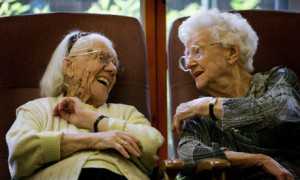 Older people laughing